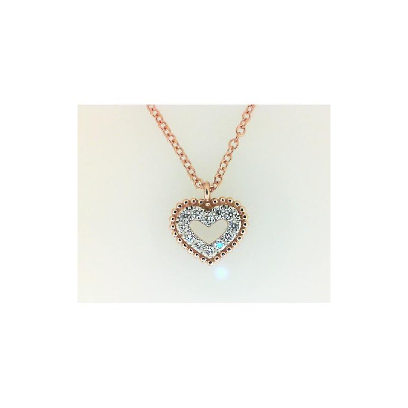 Gabriel Fashion 14KR .07CT DIA HEART NECKLACE