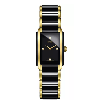 Women's Swiss Integral Diamond Accent Black Ceramic & Gold-Tone Stainless Steel Bracelet Watch 23x33mm R20845712