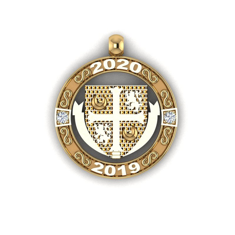 Emblem & Logo Jewelry Delbarton 2 YEAR disc
