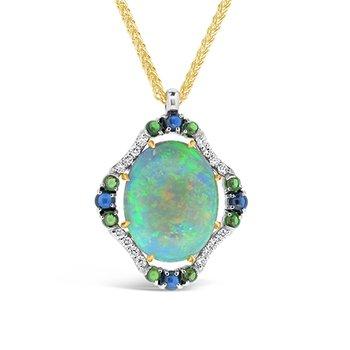 Opal and Gemstone pendant