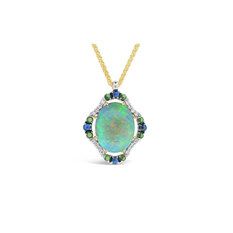 Aires Signature Collection Opal and Gemstone pendant