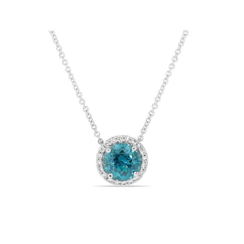Aires Custom Fashion Blue Zircon pendant