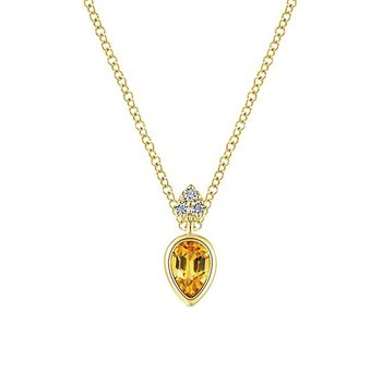 14KY .04CT DIA/ .31CT CIT NECKLACE