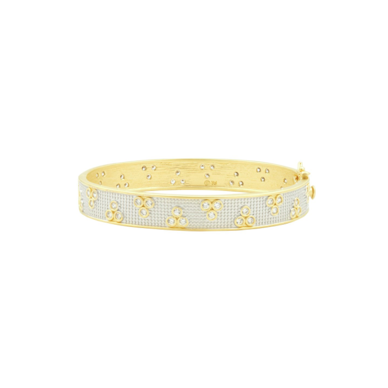 Freida Rothman FB SS/14KYP/CZ HINGE BANGLE
