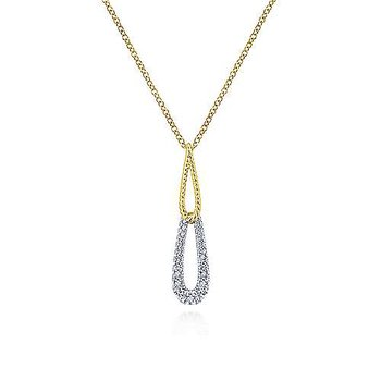 14KWYG .20CT DIA DBL DROP NECKLACE