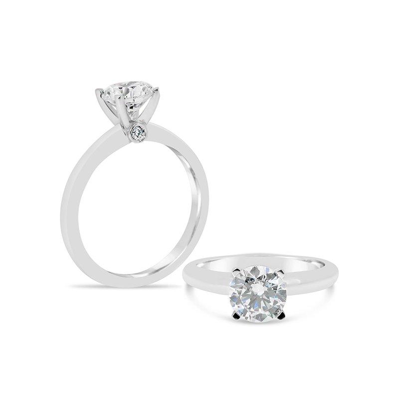 Aires Custom Bridal Round center diamond ring