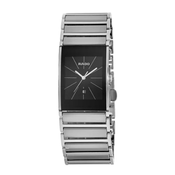Integral Black Dial Stainless Steel Men's Watch