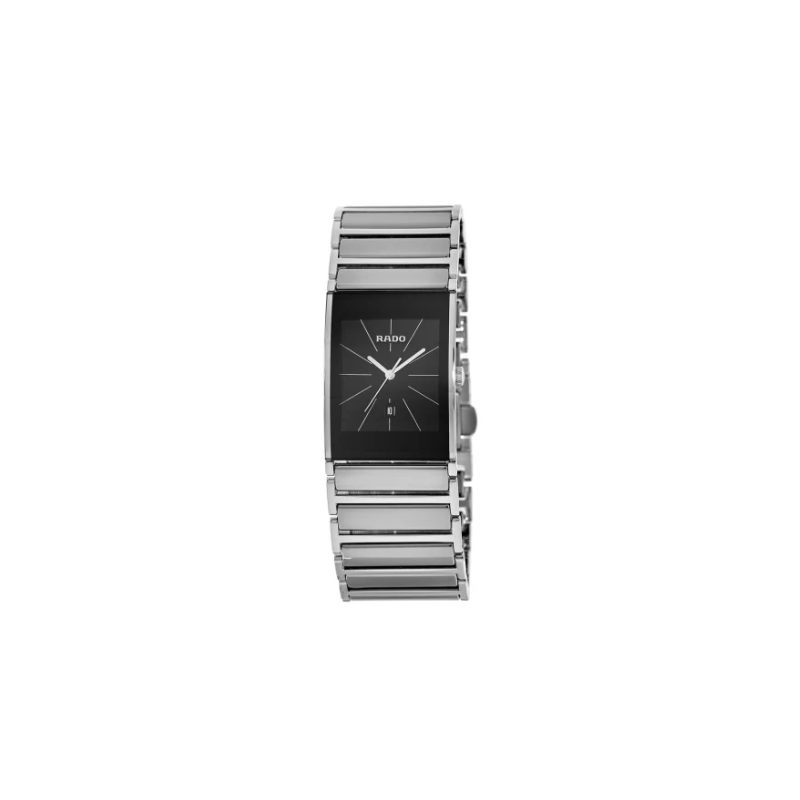 Rado Integral Black Dial Stainless Steel Men's Watch