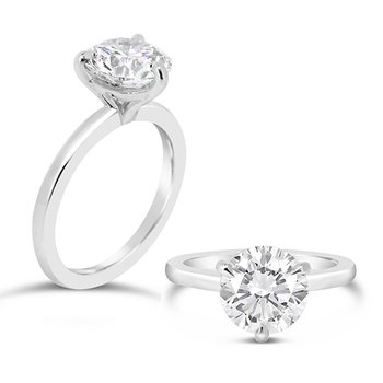 round solitaire 3 prong ring