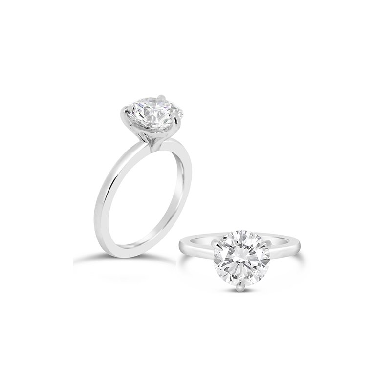 Aires Custom Bridal round solitaire 3 prong ring