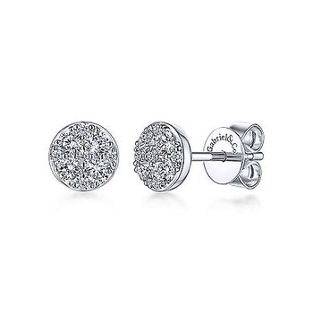 14KWG DIA .51CT STUD FASHION EARRINGS