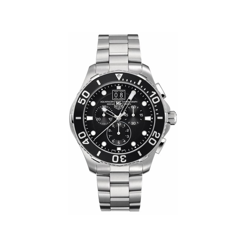 Tag Heuer Aquaracer Chronograph Black Dial Men's Watch CAN1010.BA0821