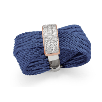 Blueberry Cable Bow Ring with 18kt Rose Gold & Diamonds