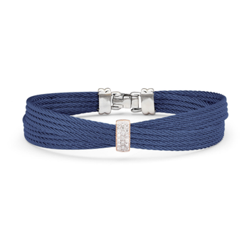Blueberry Cable Petite Bow Bracelet with 18kt Rose Gold & Diamonds