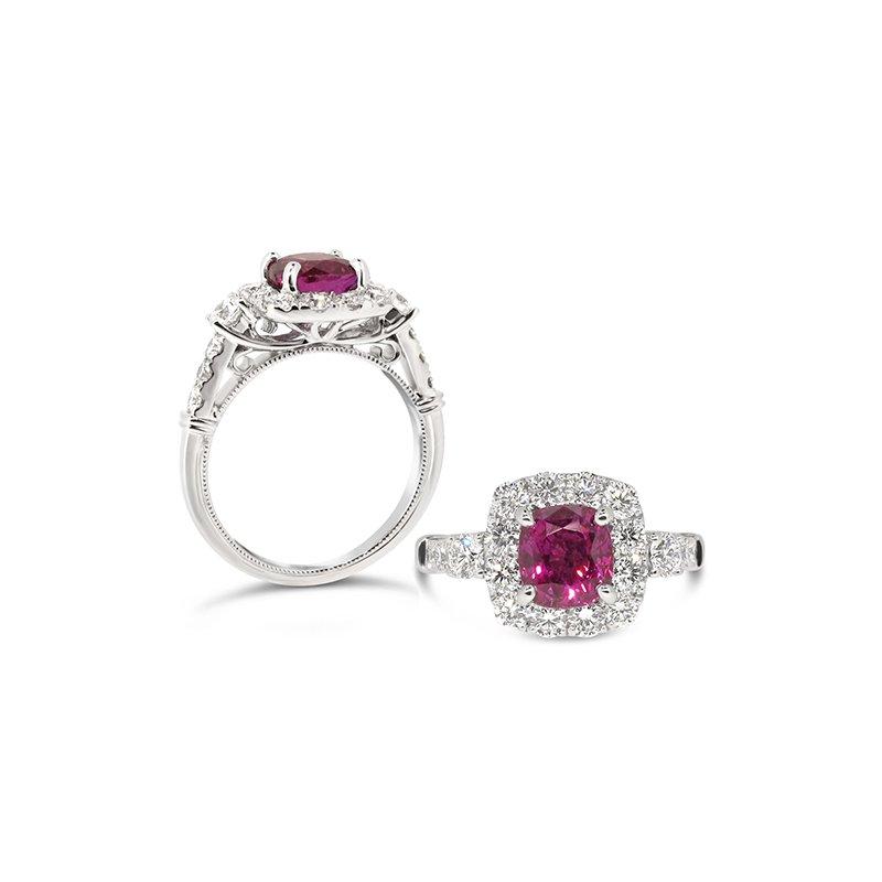 Aires Custom Fashion purple sapphire ring
