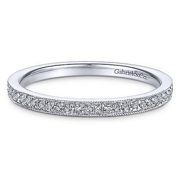 14KWG PAVE DIA .17CT STACKABLE RING