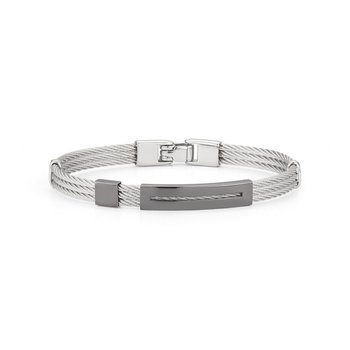 SS/18K MEN'S BANGLE BRACELET