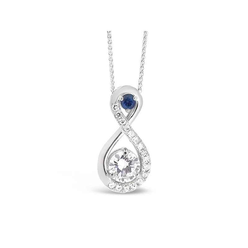 Aires Custom Fashion diamond and sapphire pendant