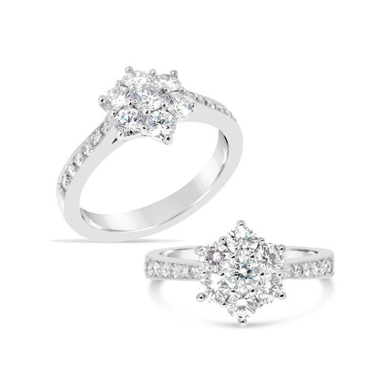Aires Custom Bridal cluster top