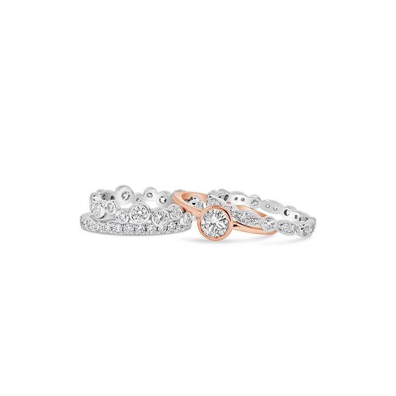 Aires Custom Bridal stacking diamond bands