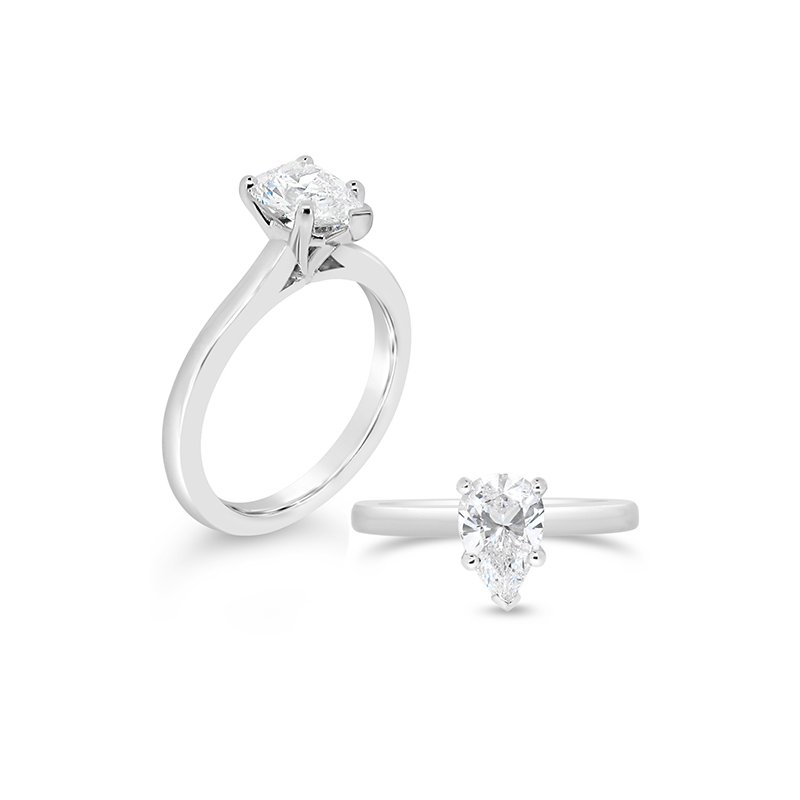 Aires Custom Bridal pear shaped solitaire