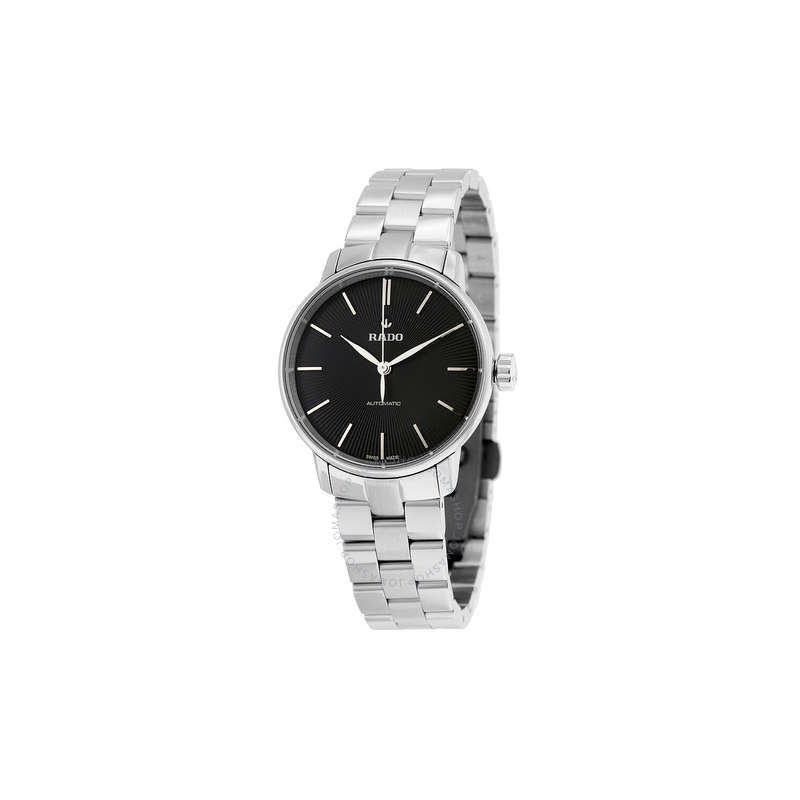 Rado Coupole Classic Automatic Black Dial Stainless Steel Ladies Watch - 32MM