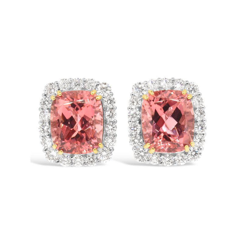 Aires Signature Collection Pink Tourmaline and Diamond earrings