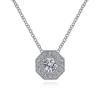 14KWG DIA .47CT FASHION NECKLACE