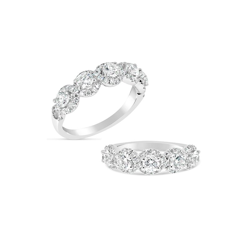 Aires Custom Bridal round diamond band