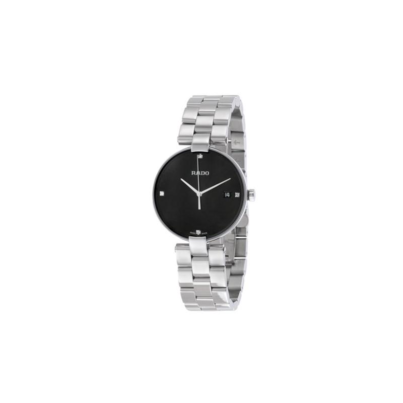 Rado Rado Coupole Black Dial Ladies Stainless Steel Watch R22852703