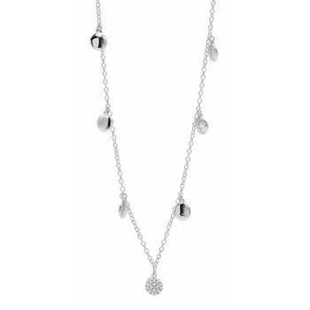 RAD SS/CZ PAVE DISC CHARM NECK 36""