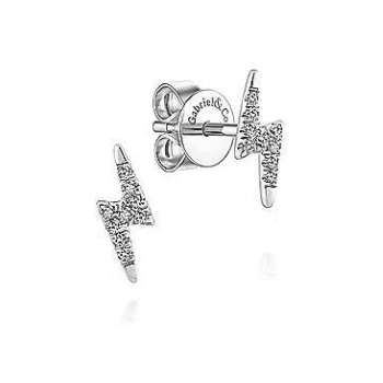 14KW .07CT DIA BOLT EARRINGS