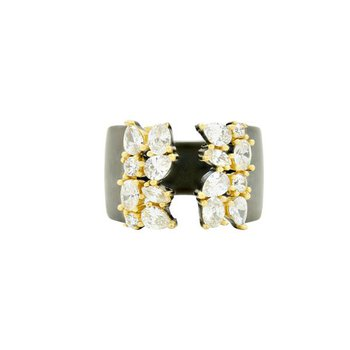 MD SS/14KYP/CZ OPEN CUFF RING