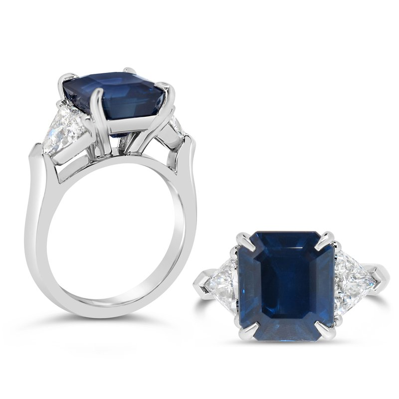 Aires Custom Fashion sapphire and diamond ring