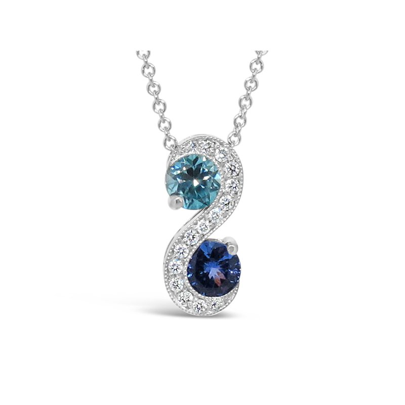 Aires Signature Collection Blue Zircon and Tanzanite