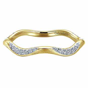 14KY .17CT DIA STACKING RING