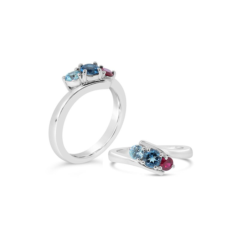Aires Custom Fashion birthstone ring