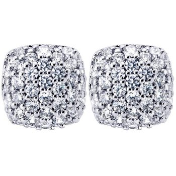 14KW .51CT DIA CUSHION SHAPED EARRINGS