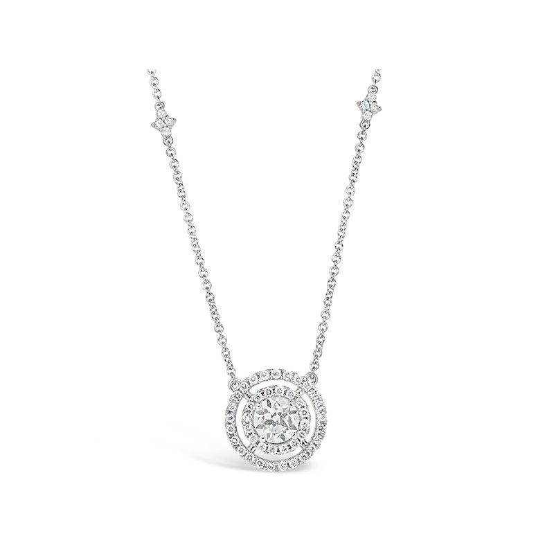 Aires Custom Fashion circle diamond pendant