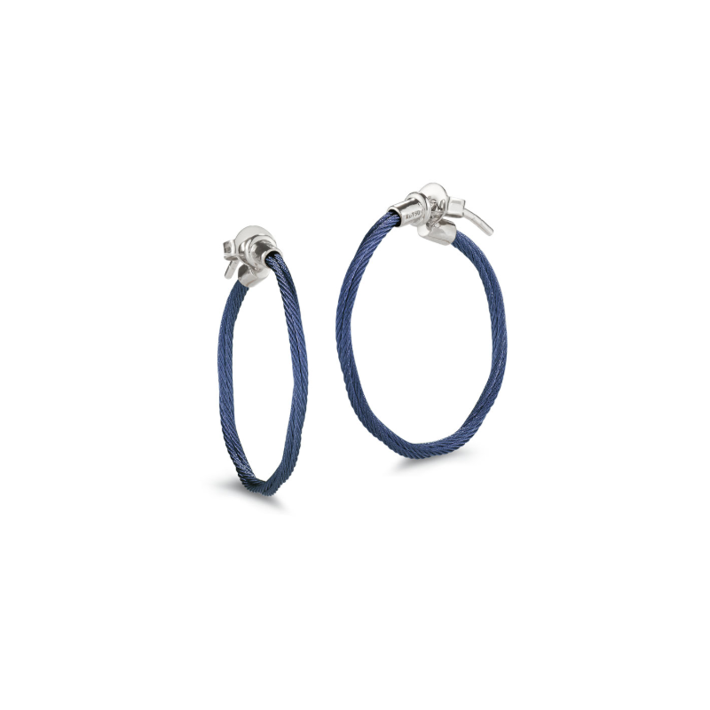 ALOR Blueberry Cable Hoop Earrings