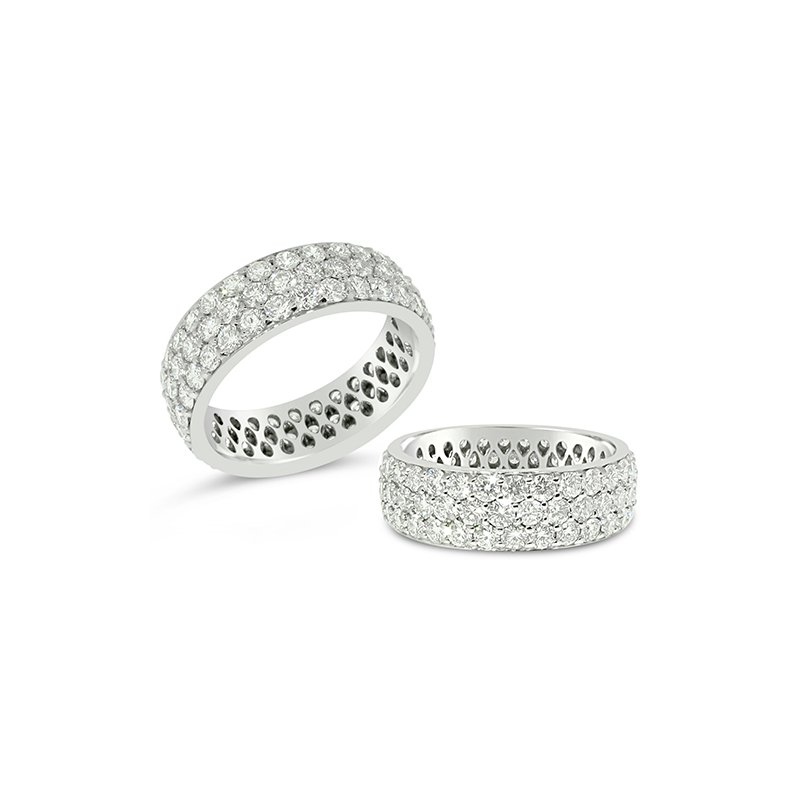 Aires Custom Bridal pave diamond band