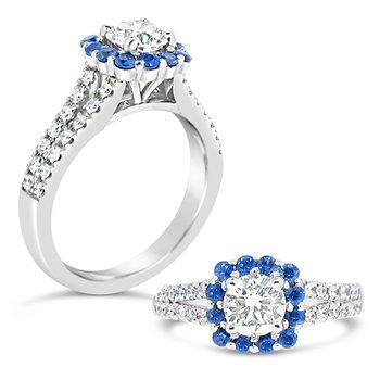 round center halo ring
