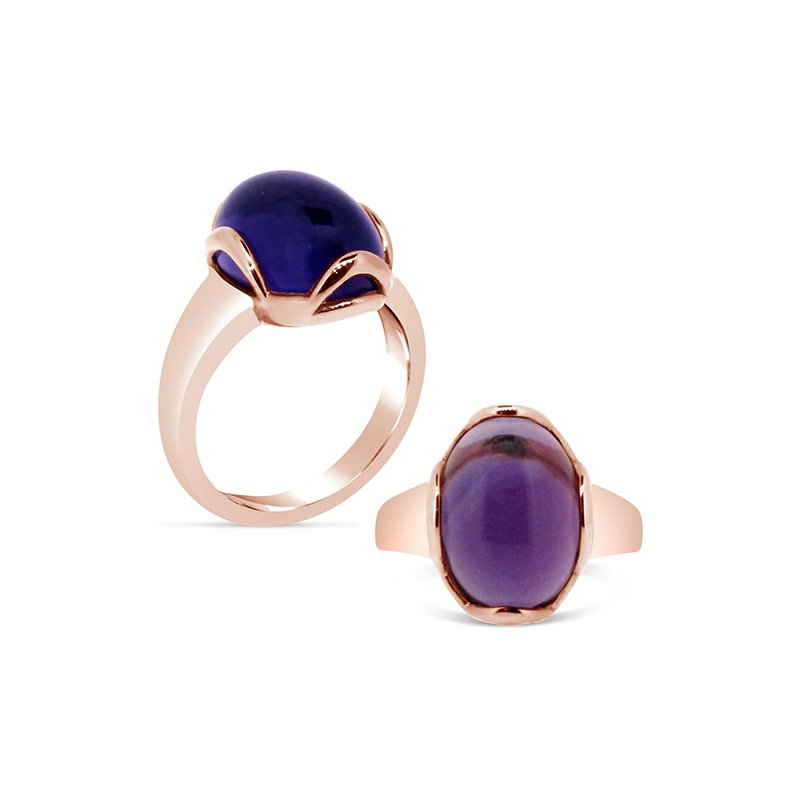 Aires Custom Fashion amethyst gemstone ring