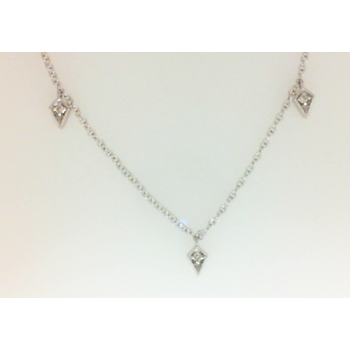 14KW .12CT DIA DANGLE NECK 18""