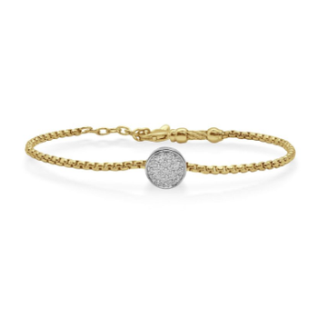 Yellow Chain Expressions Scattered Bracelet with 14kt White Gold & Diamonds