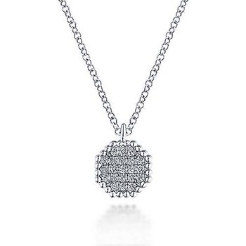14KW .10CT DIA OCTAGON NECKLACE