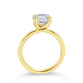 round center solitaire ring