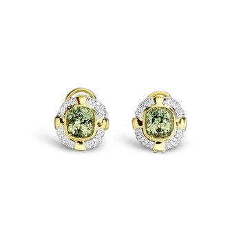 Grossularite Garnet and diamond earrings