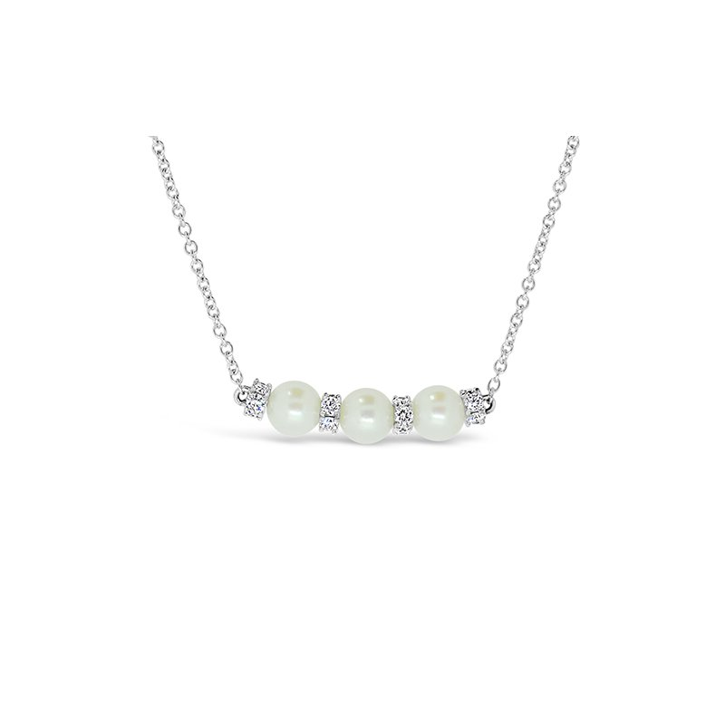 Aires Custom Fashion pearl and diamond necklace