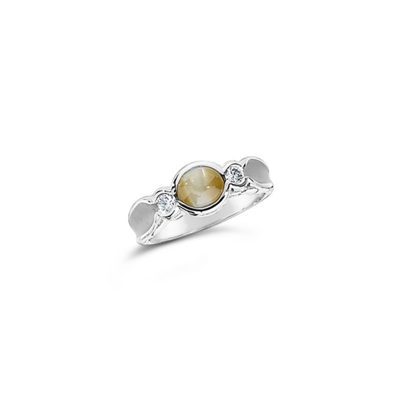 Aires Signature Collection Cats Eye Chrysoberyl and Diamond ring